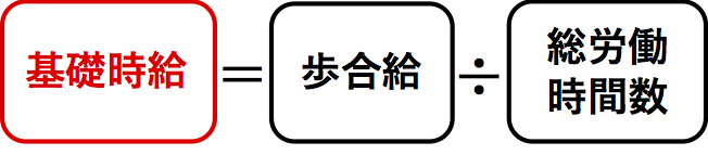 歩合給制の基礎時給の計算式