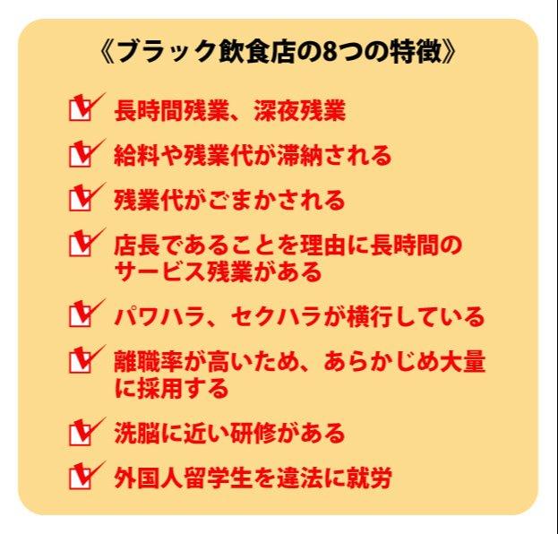 ブラック飲食店の8つの特徴