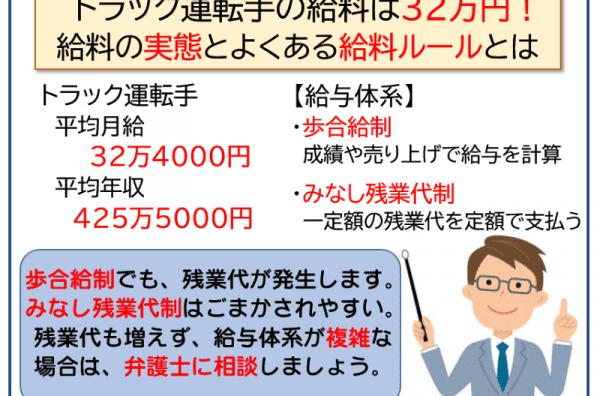 トラック運転手の給料は32万円!給料の実態とよくある給料ルールとは